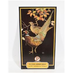 The Peters Cartridge Company Pheasant Metal Sign