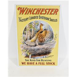 Winchester Grouse Metal Sign