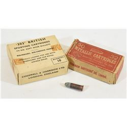 Box Lot Vintage Ammunition
