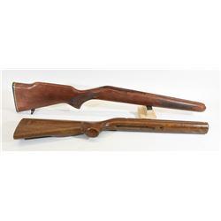 2 Wooden Stocks