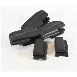 Lot of 3 Bladetech Holsters and 2 Mag Pouches