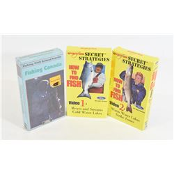 Box Lot Fishing VHS Tapes