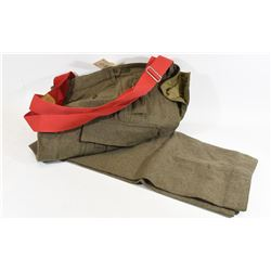 Wool Pants with Suspenders