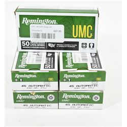 150 Rounds of Remington 45ACP 230gr FMJ