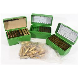 24 Rounds of 6mm Remington Reloads and Brass