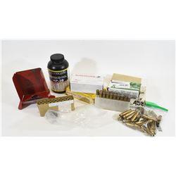 Box Lot Mixed Ammunition & Brass & More
