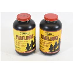 2 Cans of IMR Trail Boss Gun Powder