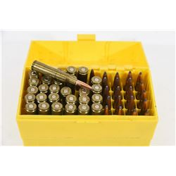 50 Rounds of Reloaded 6.5 x 55 Ammunition