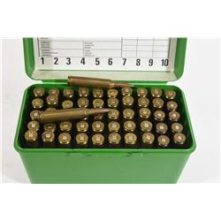 52 Rounds of Reloaded 7mm Rem Mag Ammunition