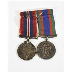 2 WWII Medals