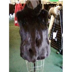 Ladies Black Fox Fur Vest