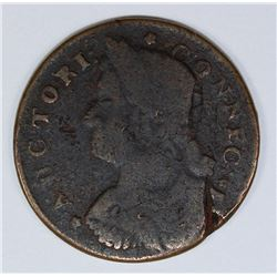 1787 CONNECTICUT CENT RARITY 4 MILLER 44-W.4