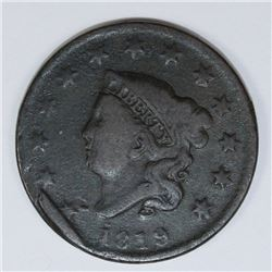 1819 LARGE CENT NEWCOMB 6 ERROR
