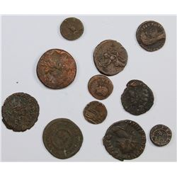 LOT OF 11 ANCIENT ROMAN BRONZES