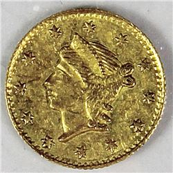 CALIFORNIA TERRITORIAL GOLD .25 ROUND