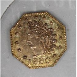 CALIFORNIA TERRITORIAL CAL GOLD 1/2 TOKEN UNLISTED