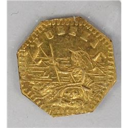 CALIFORNIA TERRITORIAL GOLD TOKEN 1857 EUREKA