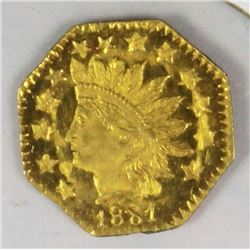 CALIFORNIA  TERRITORIAL GOLD 1881 1/2F GOLD OCT.