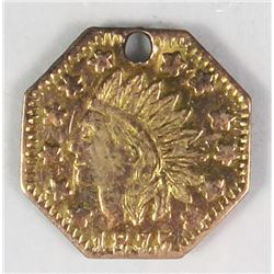 VERY RARE UNLISTED TERRITORIAL GOLD TOKEN