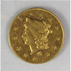 1870 ROUND .50 CAL TERRITORIAL GOLD
