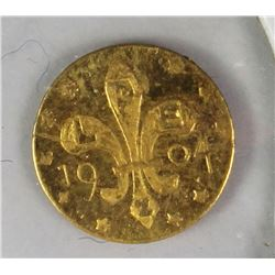 LOUISIANA PURCHASE 1904 .25 GOLD