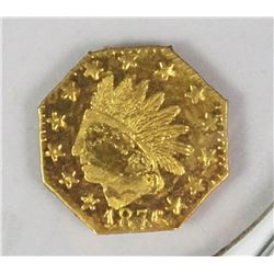 1876 INDIAN OCTAGO .25 GOLD