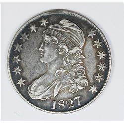 1827 BUST HALF. ORIGINAL AU OR VERY NEARLY SO