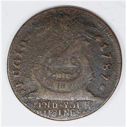 1787 FUGIO CENT KESSLER 16-N