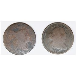 2 EARLY COPPERS 1796 LIB CAP 1797