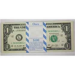 $1 PACK OF 100 CRISP STAR NOTES