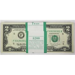 $2 PACK OF 100 CRISP NOTES