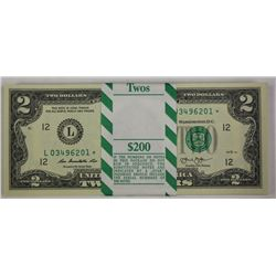 $2 PACK OF 100 CRISP STAR NOTES