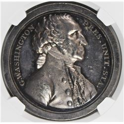 SAMSON WASHINGTON MEDAL NGC MS 62