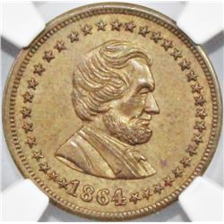 1864 CIVIL WAR TOKEN NGC MS63