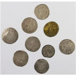 LOT OF 8 MEDIEVAL AUSTRIA KREUZER