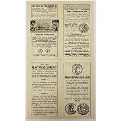 RARE COIN LEAFLET CIRCA 1945