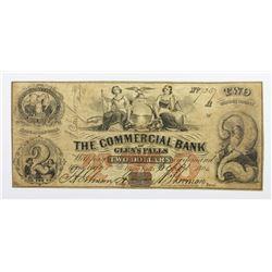 1864 $2 COMMERCIAL BANK GLEN FALLS NY