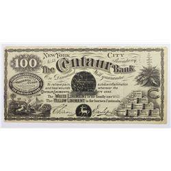 CENTAUR BANK SNAKE OIL ADV. 1870'S