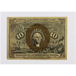 TEN CENT FRACTIONAL CURRENCY