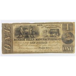 MUNROE FALLS MANE CO OHIO 1838 $1