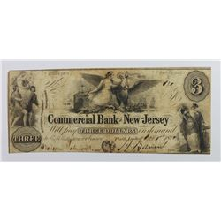 NJ COMMERCIAL BANK 1850 $3
