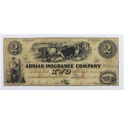 ADRIAN INSURANCE CO $2 1853