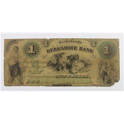 RARE BERKSHIRE BANK $1 1860