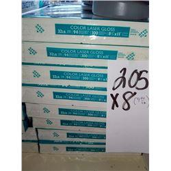 HAMMERMILL INTL GLOSS PAPER 8.5 X 11 COLOR LASER 300 SHEET / APPROX $10.00 REAM