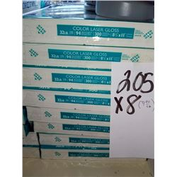 HAMMERMILL INTL GLOSS PAPER 8.5 X 11 COLOR LASER 300 SHEET / APPROX $10.00 REAM