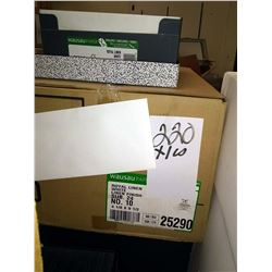 #10 ROYAL WHITE LINEN ENVELOPES, 1 CASE (1,000 PC) / / APPROX. $150.00 PER CS NEW