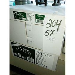 "LYNX DIGITAL 17"" X 11"" WHITE 65 LB PAPER / $34.99 PER CASE NEW"
