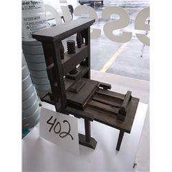 Antique Wood Salesman's Sample Printing Press