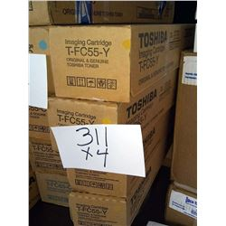 TOSHIBA YELLOW IMAGING CARTRIDGE T-FC55-Y / APPROX. $140.00 NEW