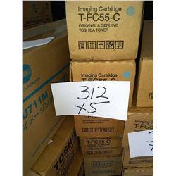 TOSHIBA CYAN IMAGING CARTRIDGE T-FC55-C / APPROX. $140.00 NEW